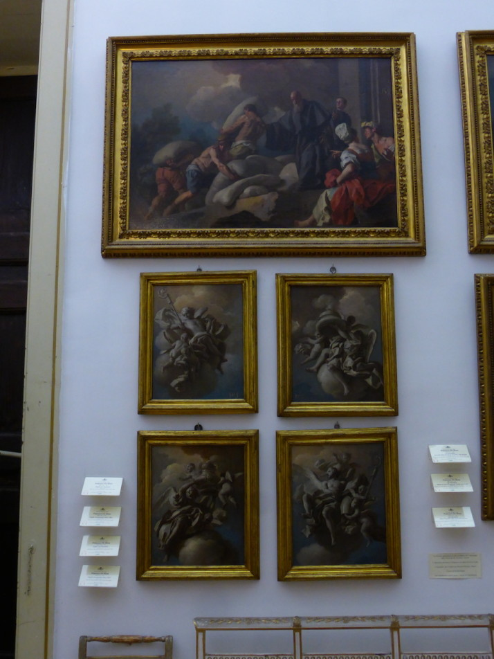 Compositional artworks, Pio Monte della Misericordia, Naples, Italy