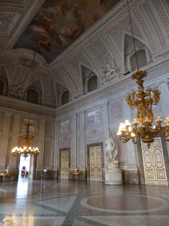 Sala Alabardieri, Royal Palace of Caserta, Naples, Italy