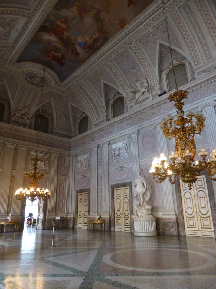 Sala Alabardieri, Royal Palace of Caserta, Naples, Italy