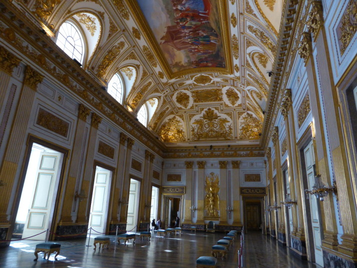 Throne Room, Royal Palace of Caserta, Naples, Italy