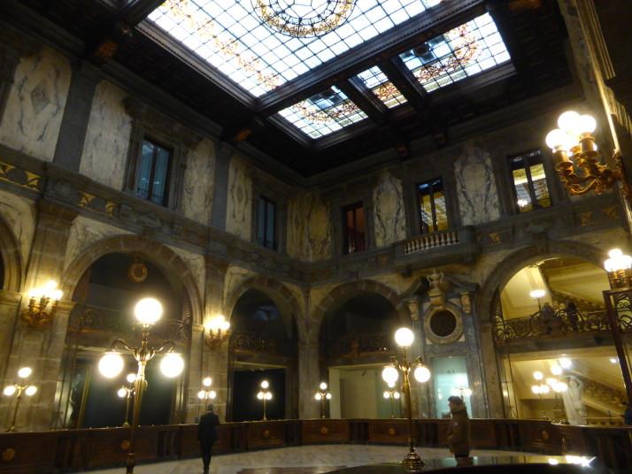 Foyer, Gallerie d'Italia, Palazzo Zevallos Stigliano, Naples, Italy