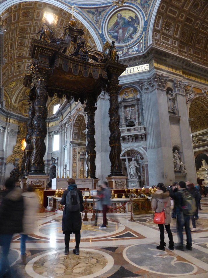 Bernini's bronze baldachin, St Peter's Basilica, Vatican City