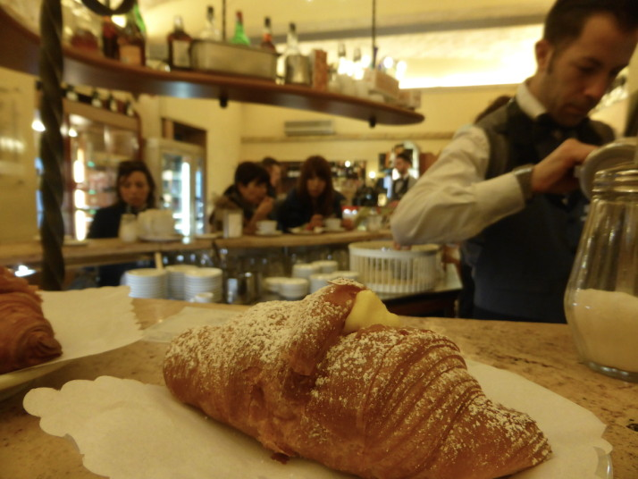 Cornetto, Cafe Barberini, Rome, Italy