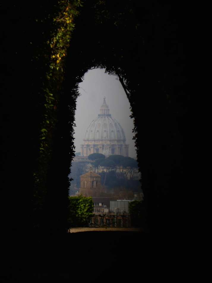 View through the keyhole, Priorato dei Cavalieri di Malta, Rome, Italy