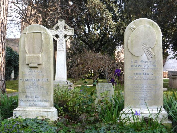 John Keats' grave, Rome, Italy