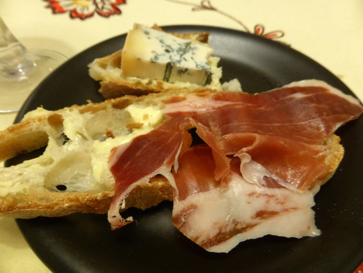 Parma Ham and Gorgonzola