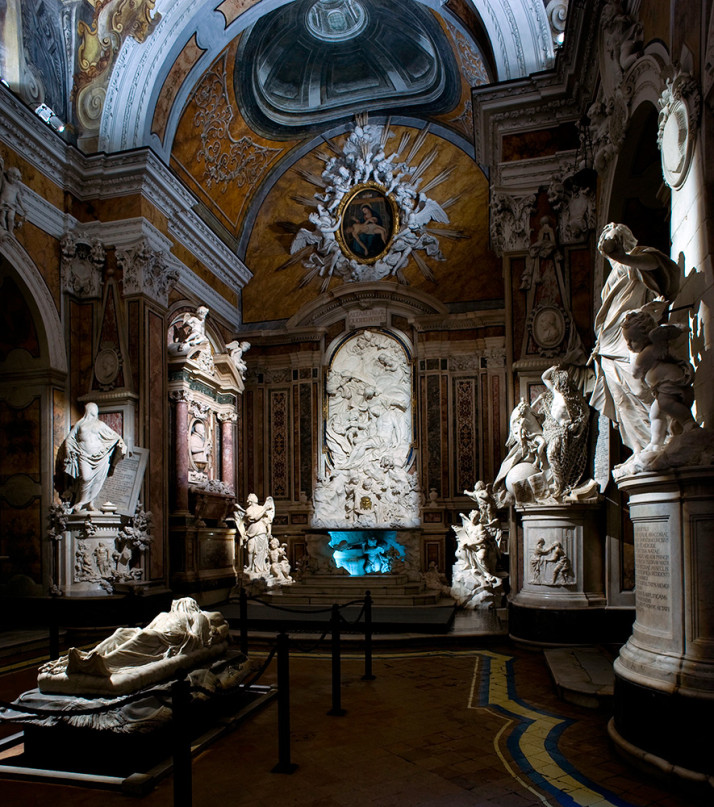 Inside the Chapel of Sansevero, Naples, Italy