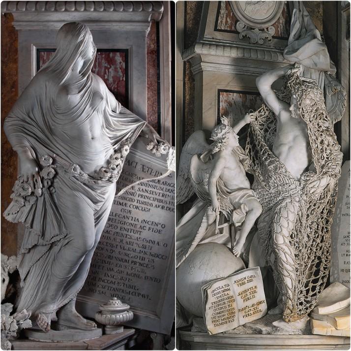 Sansevero Statues, Cappella Sansevero, Naples, Italy