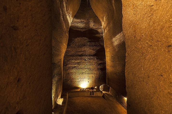 Inside a cistern