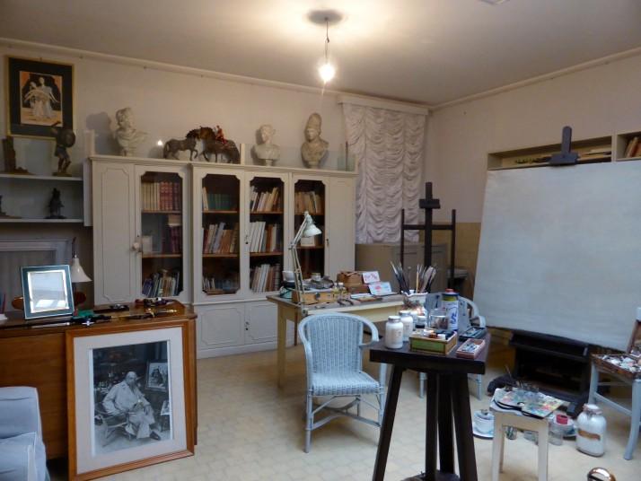 Giorgio de Chirico's studio