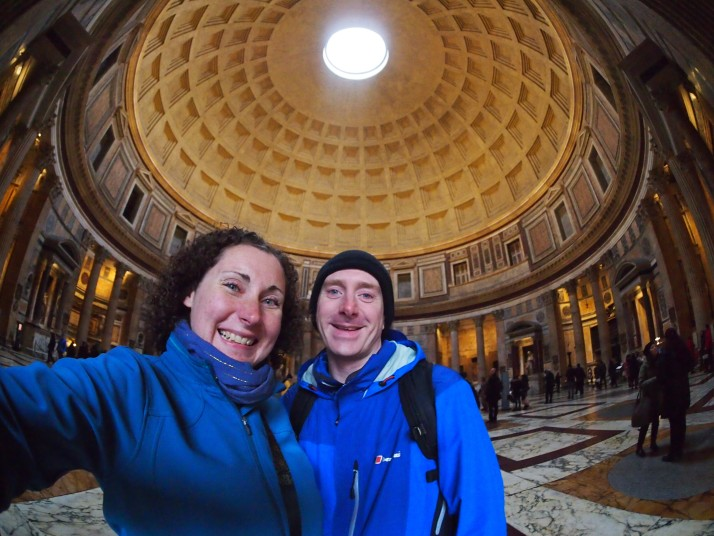 Us inside the Pantheon