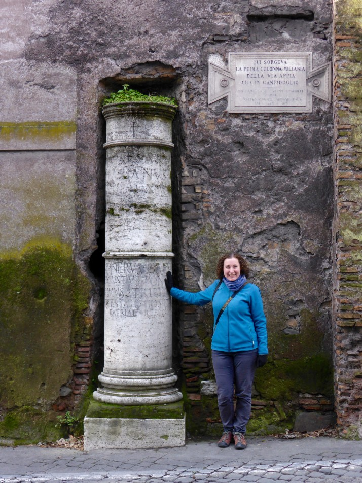 First milestone on the Appian Way