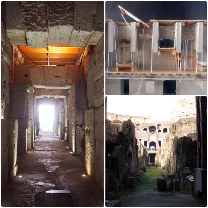 Underground areas of Colosseum
