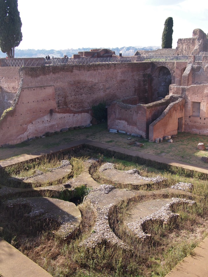 Palace ruins on Palatine Hill