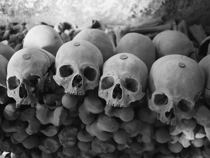 Fontanelle Cemetery skulls