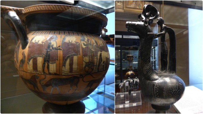 Etruscan artefacts, Museo Gregoriano Etrusco, Vatican Museums, Italy