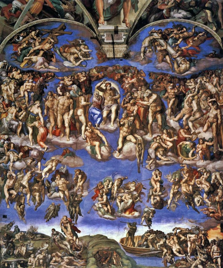 The Last Judgement by Michelangelo, Sistine Chapel ceiling, Vatican Museums, Italy