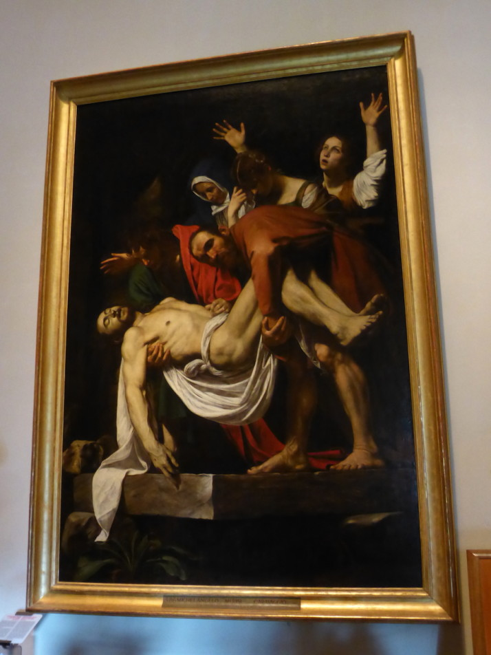 The Entombment of Christ by Caravaggio, Vatican Museums, Italy