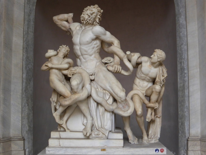 Laocoön statue, Museo Pio Clementino, Vatican Museums, Italy