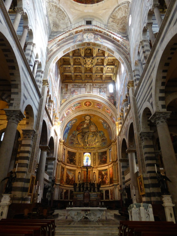 The nave of Pisa Cathedral, Italy