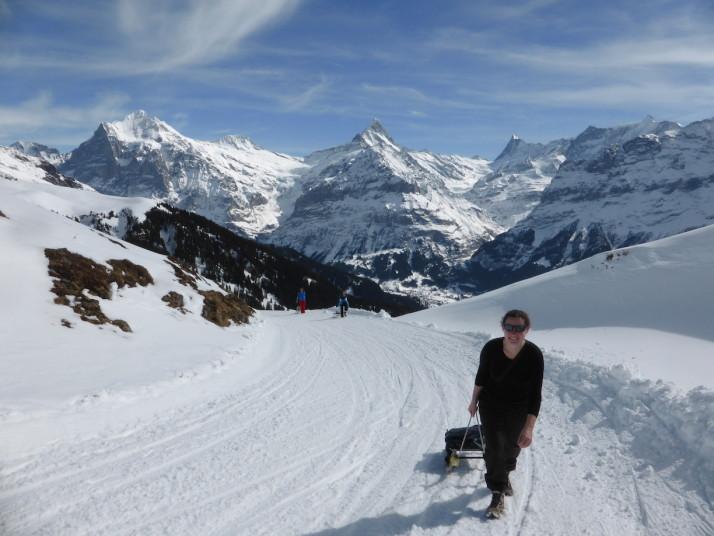 Sledging in Grindlewald, Switzerland