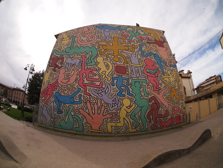 Tuttomondo by Keith Haring (1989), Pisa, Italy