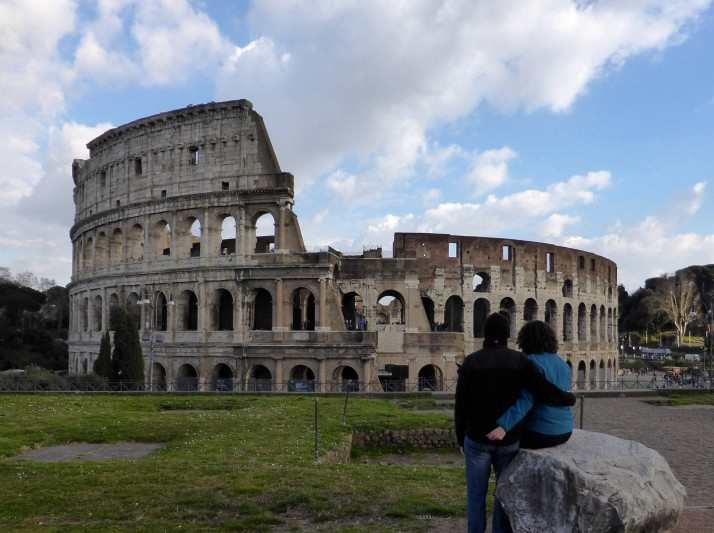 Watching the Colosseum, Rome, Italy