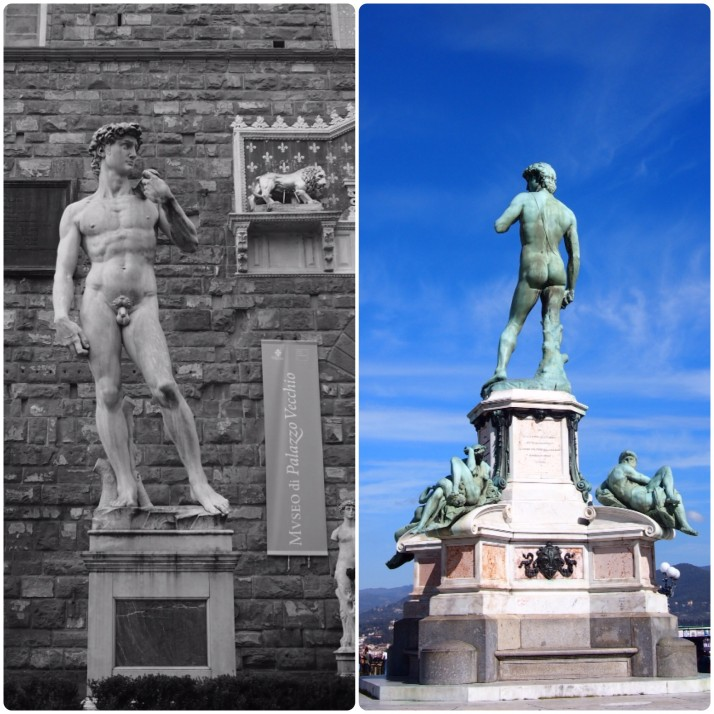 Versions of David in Florence