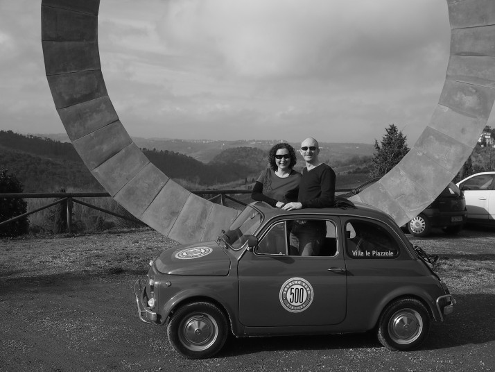 On the Fiat 500 tour