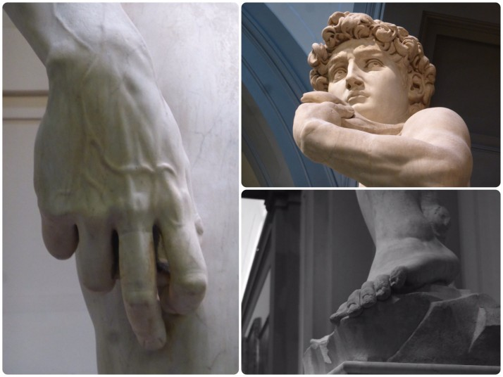Details of Michelangelo's David