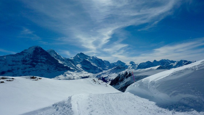 Views from sledge run above Grindelwald