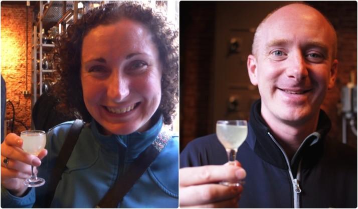 Julie and I at the Jenever tasting, Wynand Fockink, Amsterdam