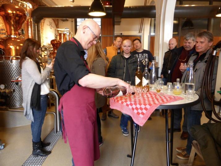 Jenever tasting, Wynand Fockink, Amsterdam