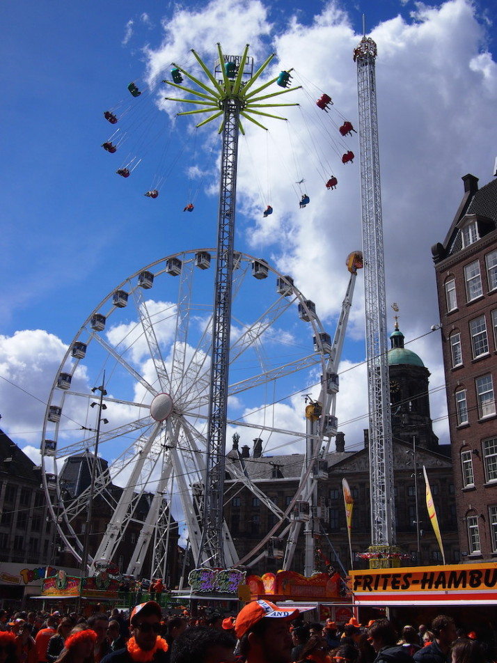 Dam Square, King's Day, Amsterdam