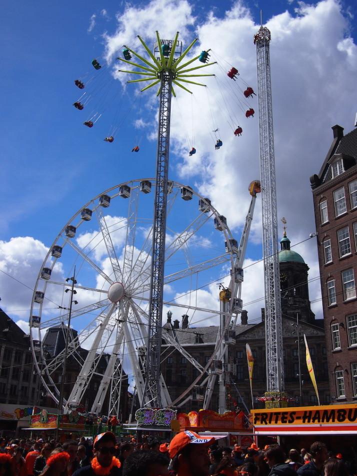 Dam Square, King's Day, Amsterdam