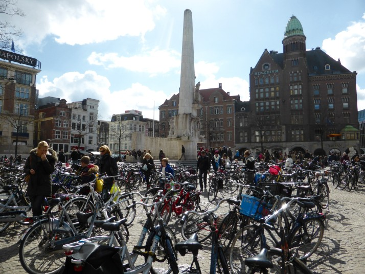 Dam Square on Saturday afternoon