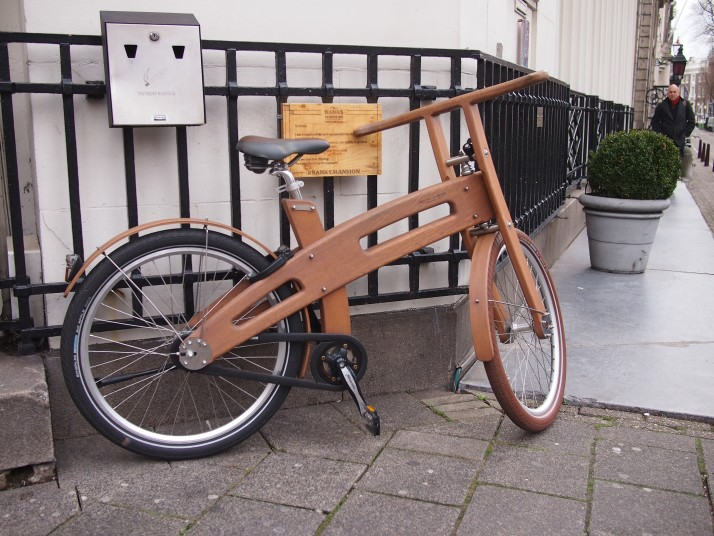 Wooden framed bicycle