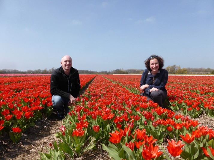 Us in the tulip field