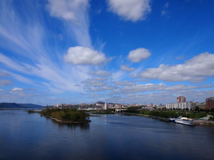 River Yenisey in Krasnoyarsk