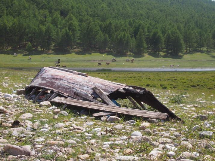 Rotten boat, Olkhon Island