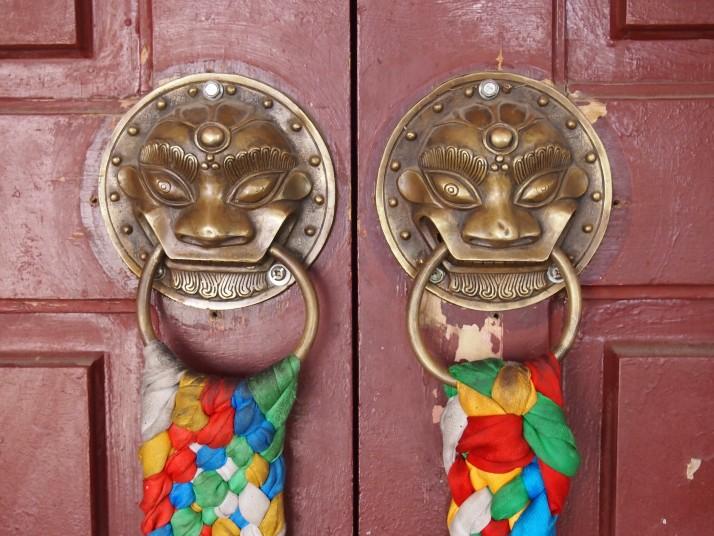 Monastery door handles