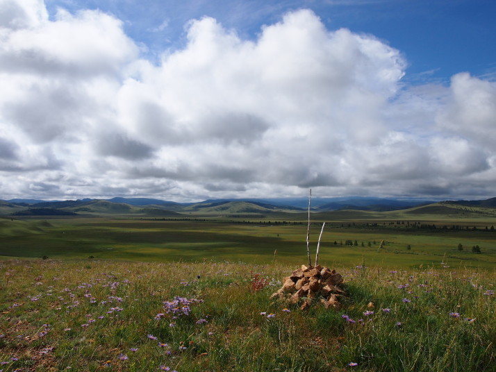 Ovoo in eastern Mongolia