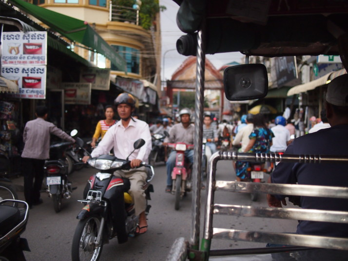 Rush hour in Phnom Penh