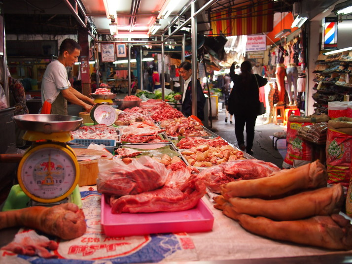 Butcher's stall