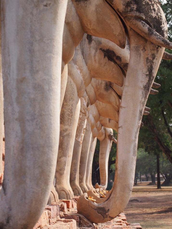 Elephant chedi detail