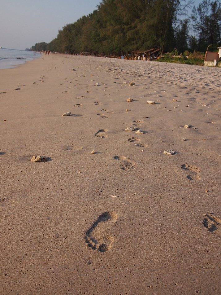 Footsteps on Long Beach, Koh Lanta