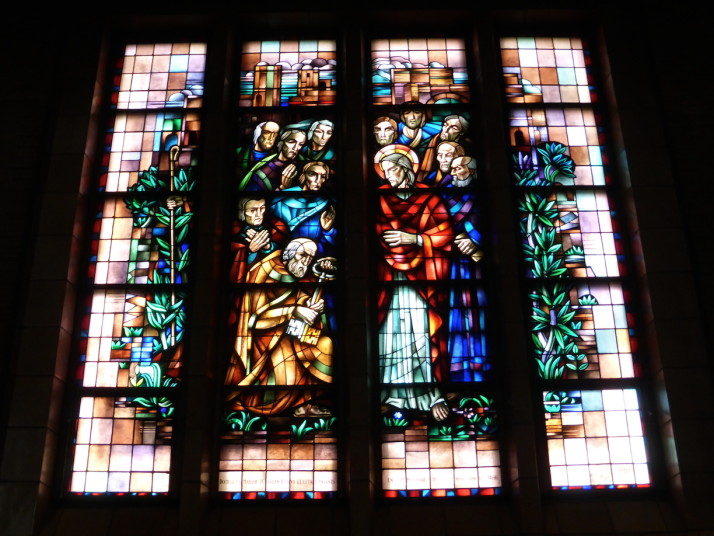 Stained glass, Basilique Nationale du Sacré-Cœur à Koekelberg, Brussels