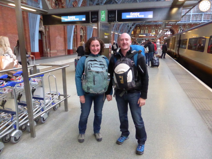 Us in St. Pancras, London
