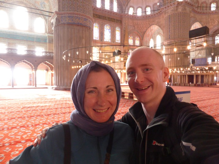 In Istanbul's Blue Mosque