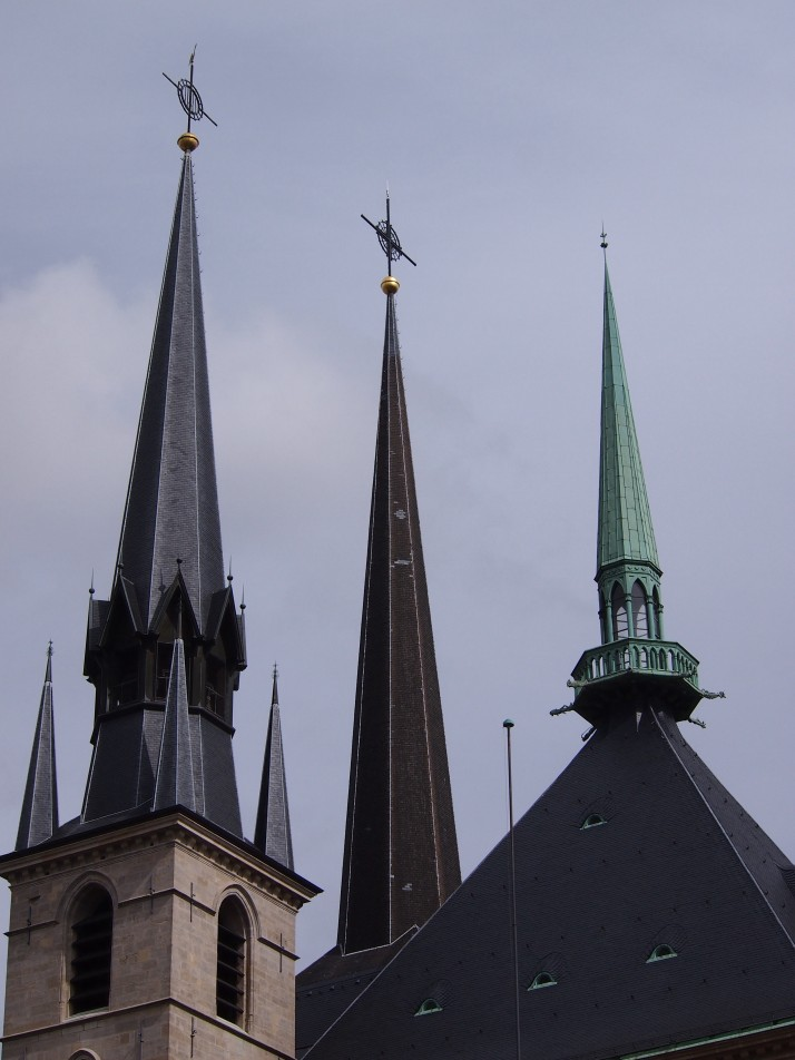 Cathedral spires, Luxembourg City